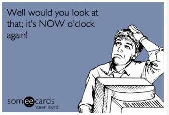 now o clock