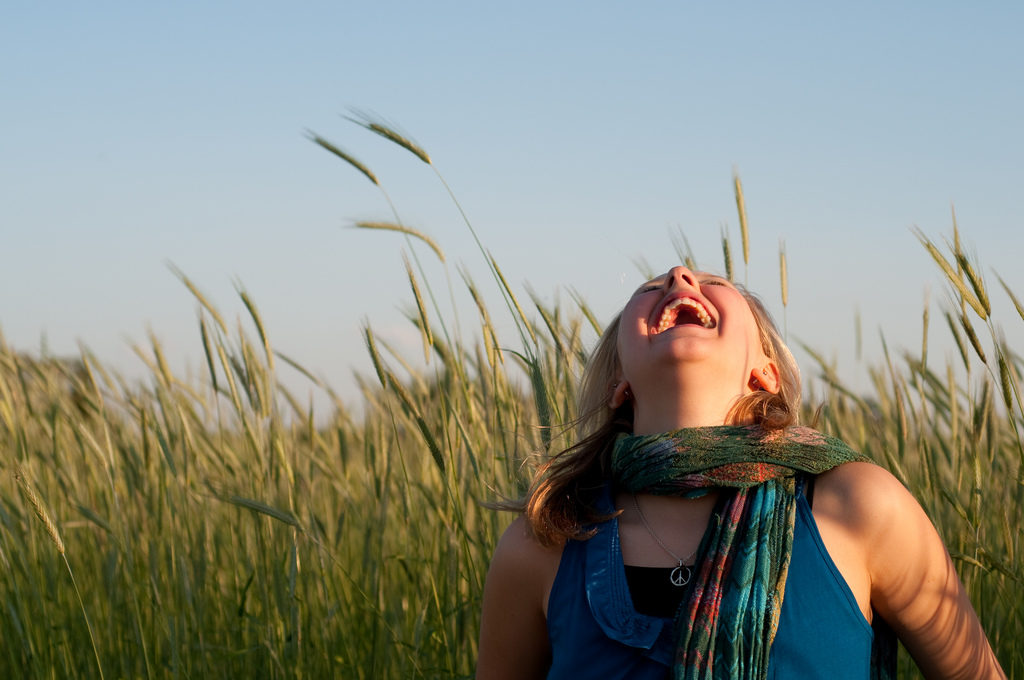 laughing at the sky